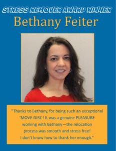 Award Winner - Bethany Feiter April 2016 with SRA logo