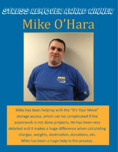 Award Winner - Mike O'Hara May 2016 with SRA Logo