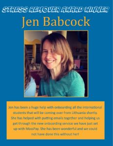 Award Winner - Jen Babcock June 2016