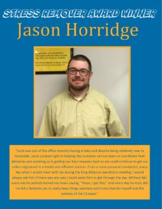 Award Winner - Jason Horridge June 2016 with SRA logo