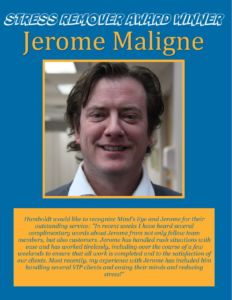 Award Winner - Jerome Maligne June 2016