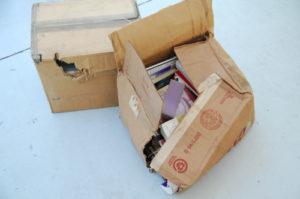 Ripped Moving Box