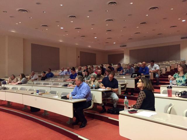 Group photo in auditorium