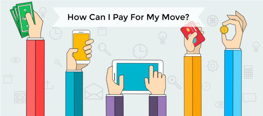 animation of paying for a move