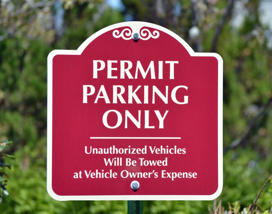 parking permit only sign in boston