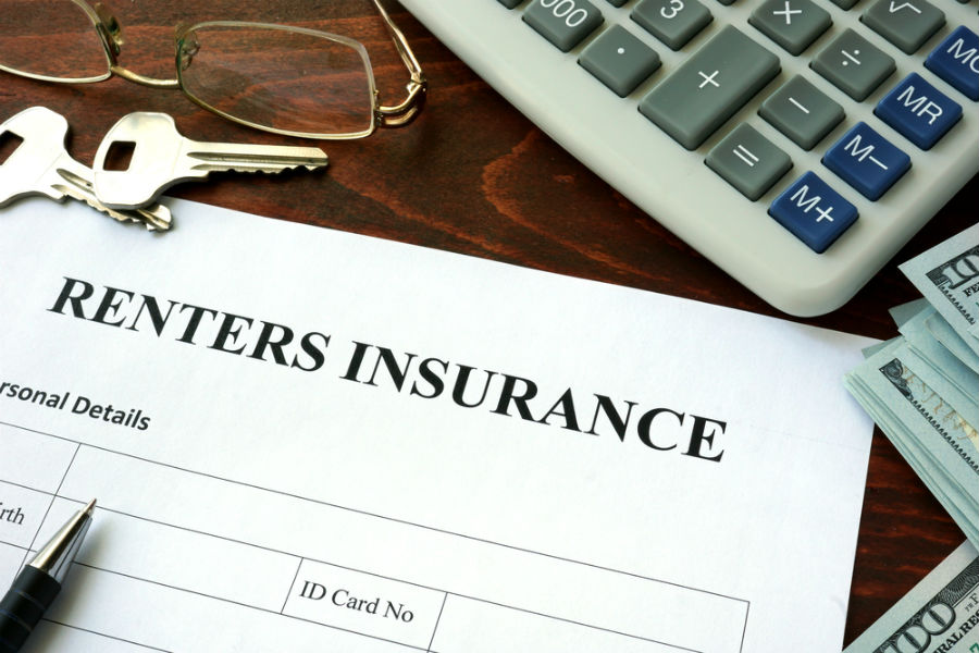 Renters insurance papers