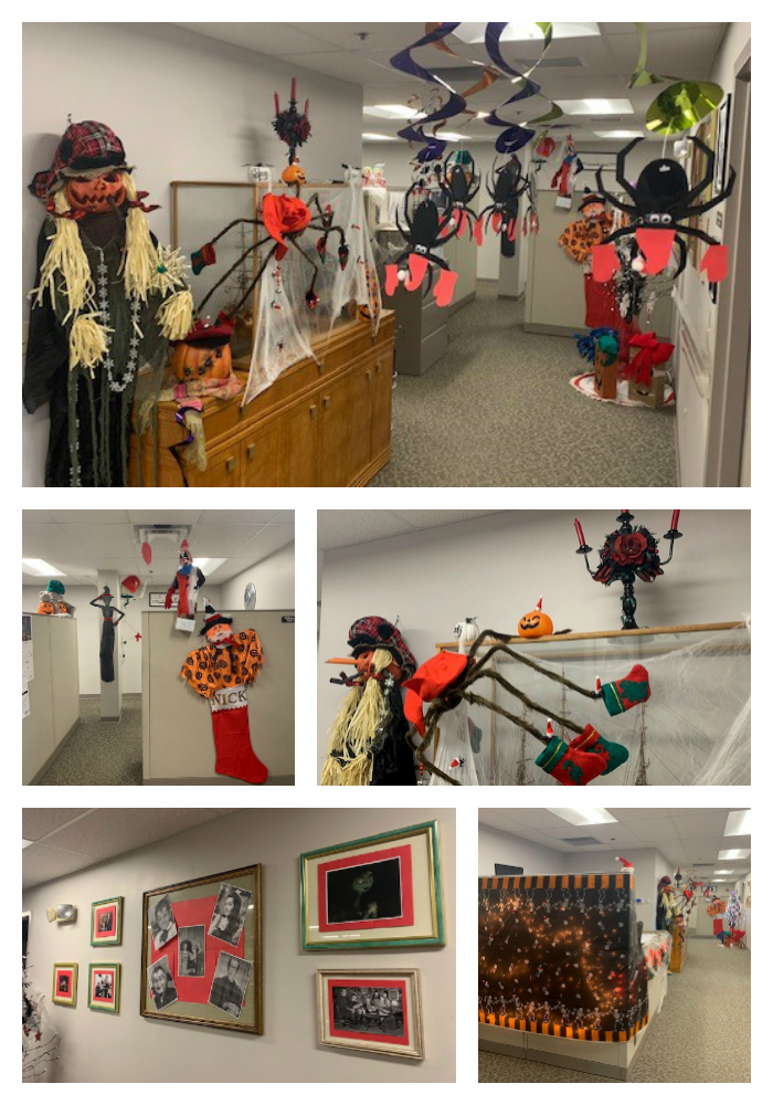 Halloween decorated office