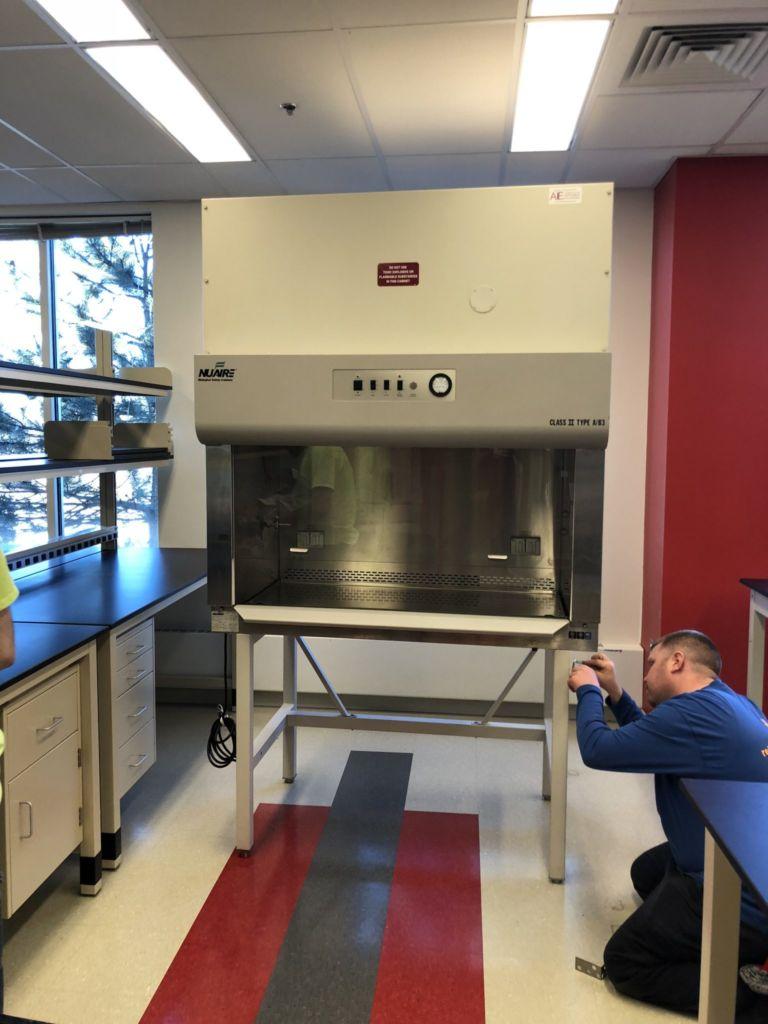 Setting up lab equipment