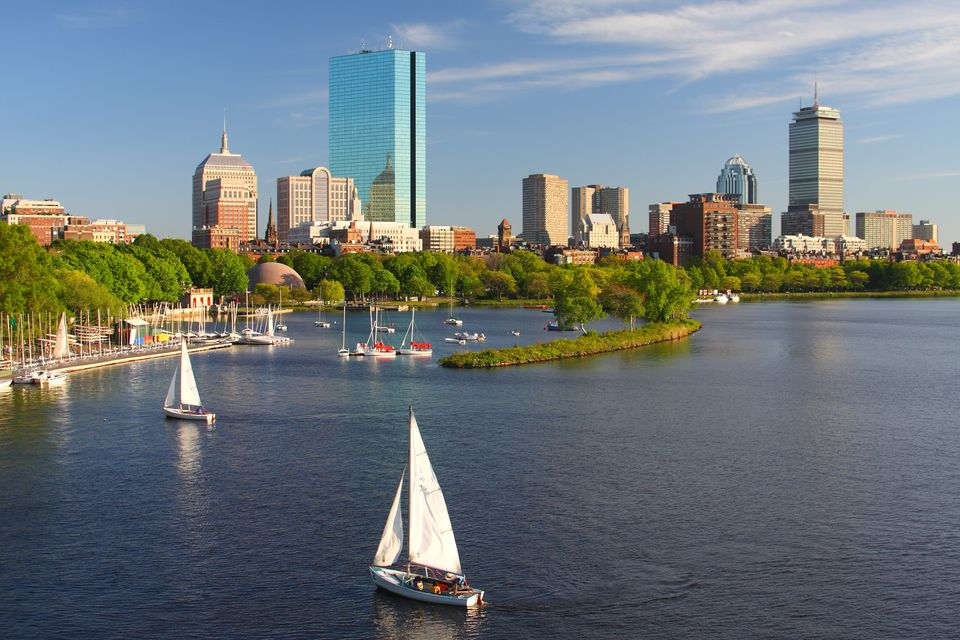 View of Boston from the water